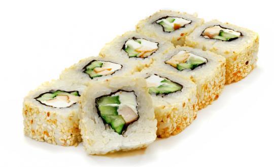 Заказать ролл Копченый цыпленок с доставкой на дом в Бийске, Империя суши