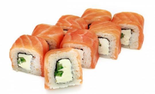 Заказать Ролл Филадельфия с огурцом с доставкой на дом в Новосибирске, Империя суши