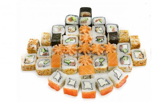Заказать Сет Лососевый премиум с доставкой на дом в Новосибирске, Империя суши