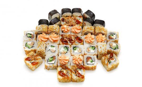 Заказать сет Лососевый с доставкой на дом в Новосибирске, Империя суши